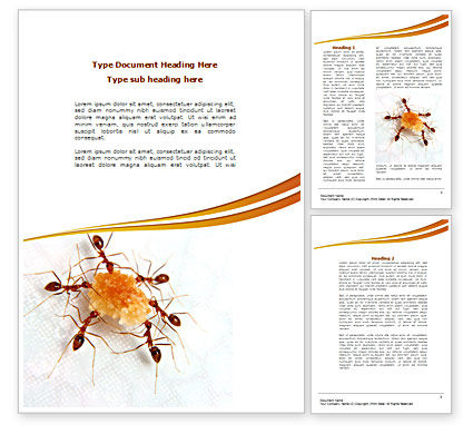Business Concepts: Ants Team Work Word Template #08289