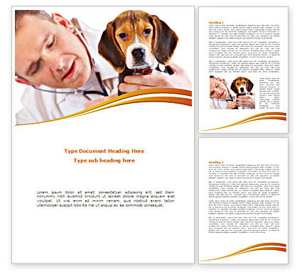 Veterinarian Word Template, 08292, Agriculture and Animals — PoweredTemplate.com