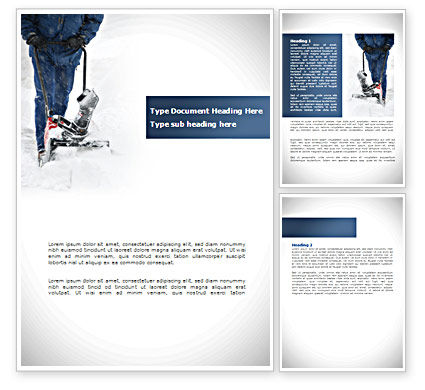 Snow Cleaning Word Template, 08293, Utilities/Industrial — PoweredTemplate.com
