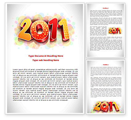 Holiday/Special Occasion: 2011 Word Template #08294