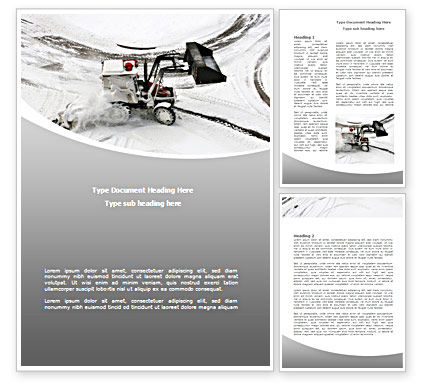 Snow Cleaning Machine Word Template