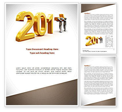 Business: Upcoming Year Word Template #08304