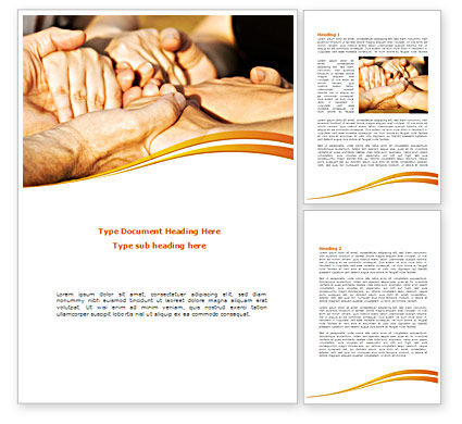 Religious/Spiritual: Hands Contact Word Template #08305