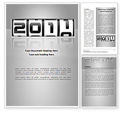 2011 Timer Word Template, 08306, Holiday/Special Occasion — PoweredTemplate.com