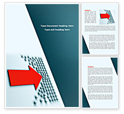 Arrow Breaking Through Word Template, 08308, Consulting — PoweredTemplate.com
