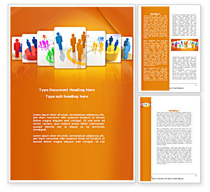 Social Interactions Word Template, 08315, Telecommunication — PoweredTemplate.com