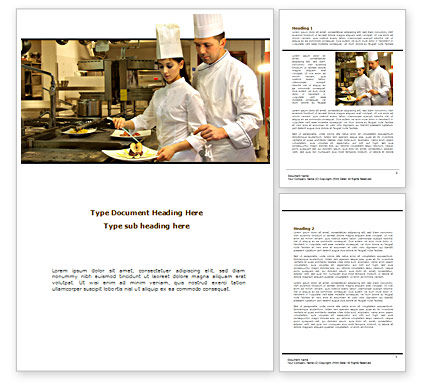Food & Beverage: Female Chef Word Template #08318