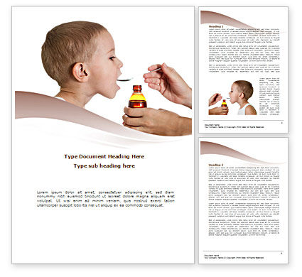 Cough Medicine Word Template