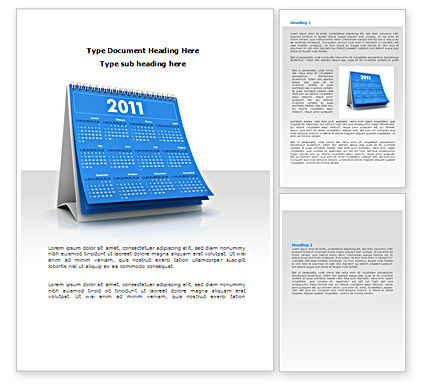 2011 Calendar Word Template, 08321, Holiday/Special Occasion — PoweredTemplate.com