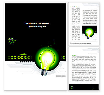 Business Concepts: Green Light Schematically Word Template #08322