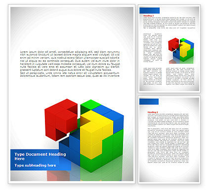 Fitting Pieces Word Template, 08326, Business Concepts — PoweredTemplate.com