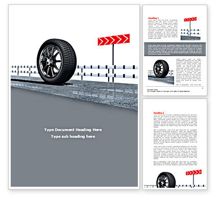 Tire Change Word Template, 08327, Cars/Transportation — PoweredTemplate.com