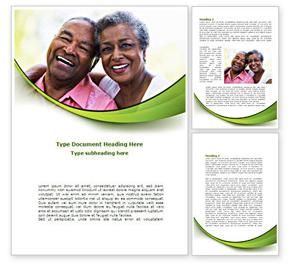 Elderly Spouse Word Template, 08332, People — PoweredTemplate.com