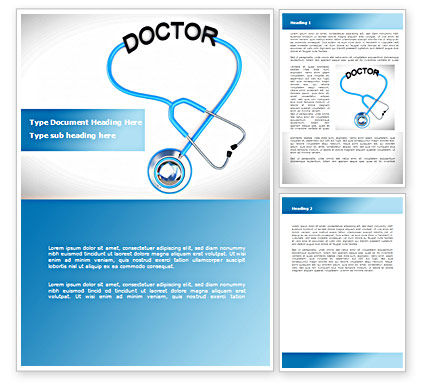 Medical Practice Word Template, 08333, Medical — PoweredTemplate.com