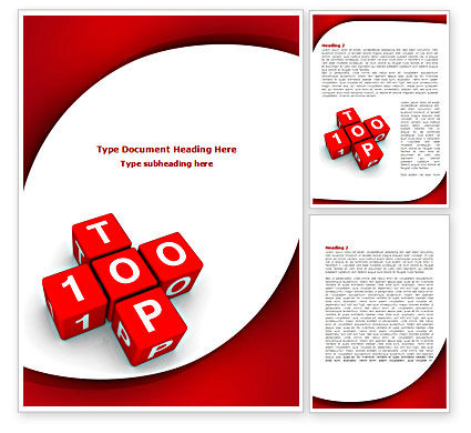 Careers/Industry: Top 100 Word Template #08338