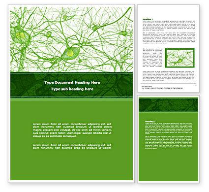 Nervous Tissue Word Template, 08340, Medical — PoweredTemplate.com