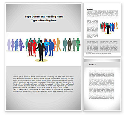 People: People Diversity Word Template #08344