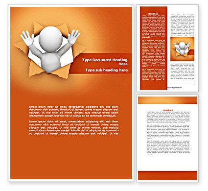 Breaking Through Word Template, 08351, Consulting — PoweredTemplate.com