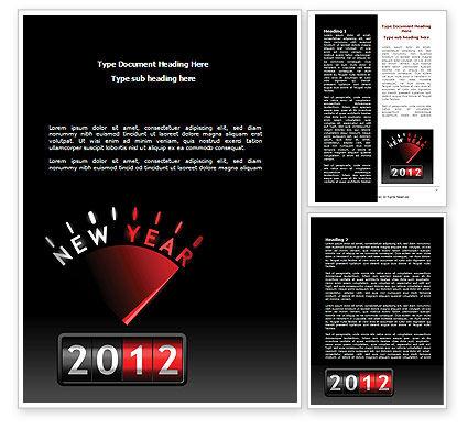 N Yr Speedometer Word Template, 08353, Business — PoweredTemplate.com