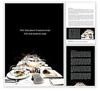 Food & Beverage: Banquet Table Word Template #08354