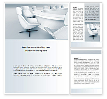Boardroom Word Template, 08363, Business — PoweredTemplate.com