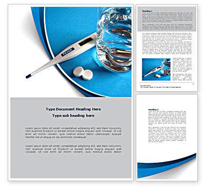 Flu Fever Word Template, 08370, Medical — PoweredTemplate.com