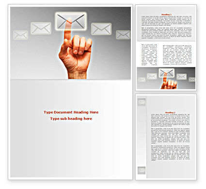 Email Service By Word Template, 08375, Telecommunication — PoweredTemplate.com