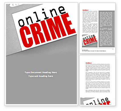Online Crime Word Template, 08377, Legal — PoweredTemplate.com