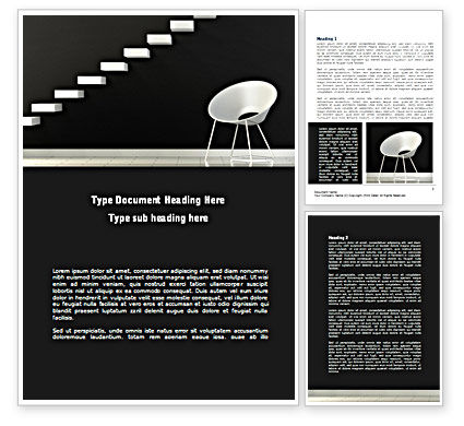 Business Concepts: White on Black Word Template #08378