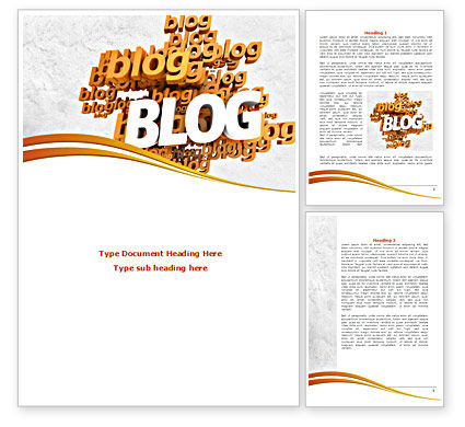 Abstract Blog Word Template