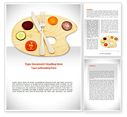 Careers/Industry: Healthy Diet Word Template #08383