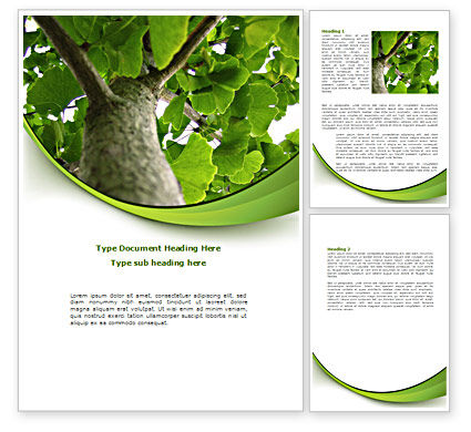Tree Growth Word Template, 08387, Nature & Environment — PoweredTemplate.com