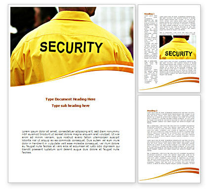 Careers/Industry: Safeness Word Template #08388