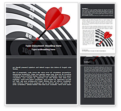 Bullseye Word Template, 08389, Consulting — PoweredTemplate.com