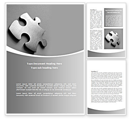 Steel Jigsaw Word Template, 08390, Consulting — PoweredTemplate.com