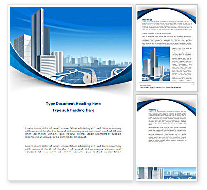 Construction: City Paysage Word Template #08391