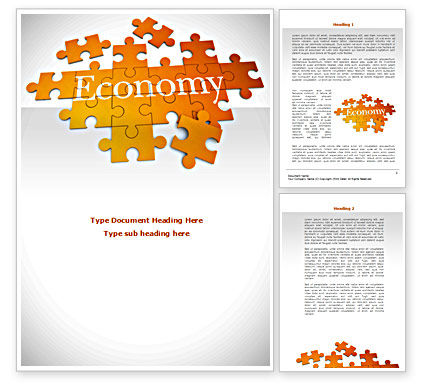 Economy Puzzle Word Template, 08393, Financial/Accounting — PoweredTemplate.com