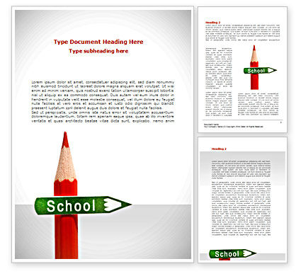 School Sign Word Template, 08395, Education & Training — PoweredTemplate.com