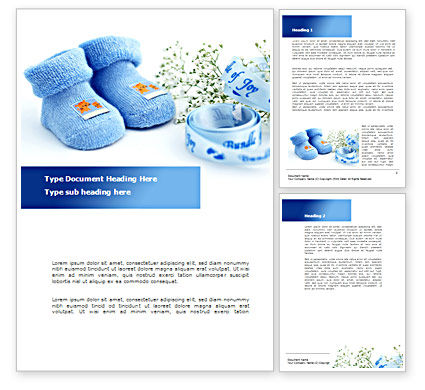 Education & Training: Little Blue Slippers Word Template #08397