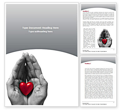 In Your Hands Word Template, 08403, Holiday/Special Occasion — PoweredTemplate.com
