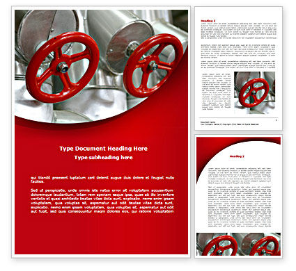 Gas Pipe Tap Word Template, 08406, Utilities/Industrial — PoweredTemplate.com