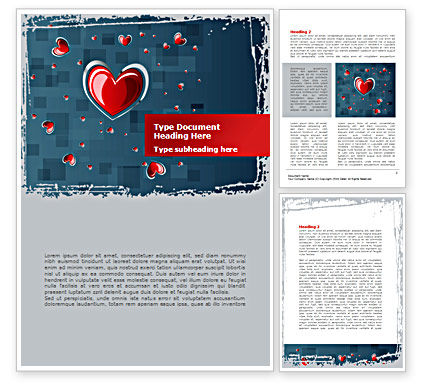 Valentine Theme Word Template, 08409, Holiday/Special Occasion — PoweredTemplate.com