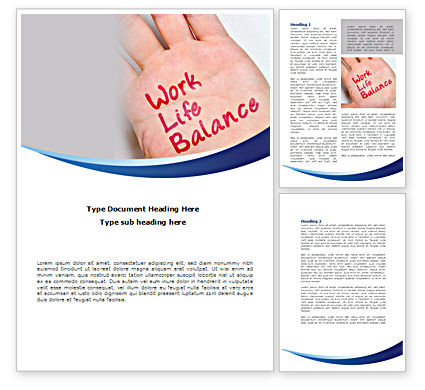 Work-Life Balance Word Template, 08411, Consulting — PoweredTemplate.com
