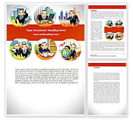 Business Activities Word Template, 08413, Consulting — PoweredTemplate.com