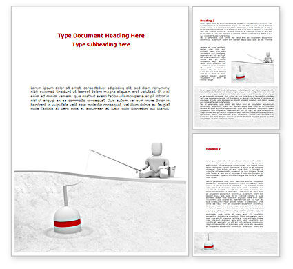 Fisherman Word Template, 08416, Consulting — PoweredTemplate.com