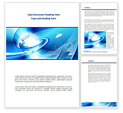 Business Companionship Word Template, 08417, Telecommunication — PoweredTemplate.com
