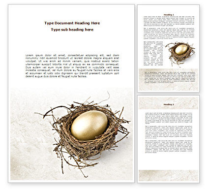 Business Concepts: Golden Egg Word Template #08418