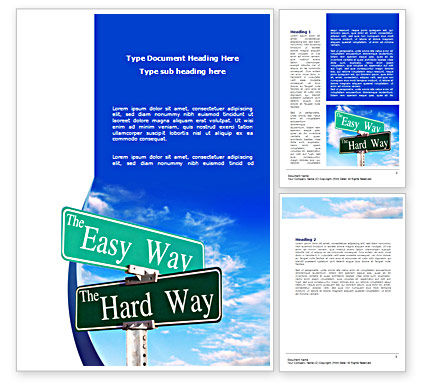Easy or Hard Way Word Template, 08420, Consulting — PoweredTemplate.com