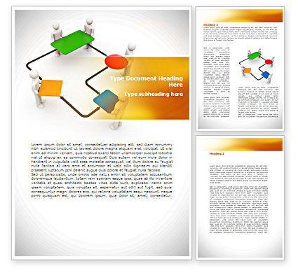 Block Diagram Word Template, 08422, Consulting — PoweredTemplate.com