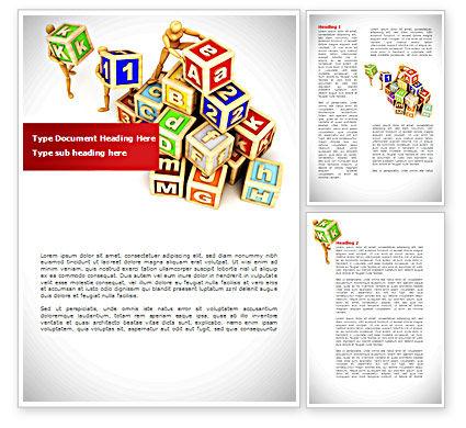 Toy Blocks Word Template, 08423, Business — PoweredTemplate.com